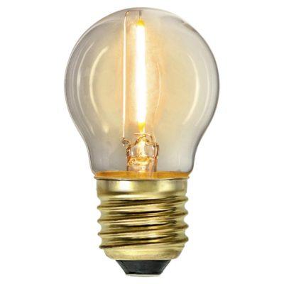 LED spuldzīšu virtene G45 SOFT GLOW, 0.8W / 2100K / E27