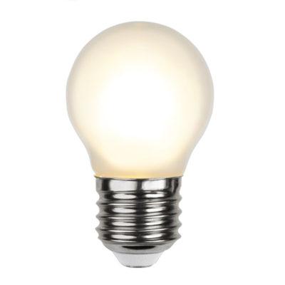 LED spuldzīšu virtene G45 FROSTED, 1.5W / 2700K / E27