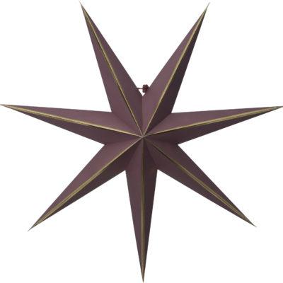 Papīra zvaigzne RED GLOW 60CM