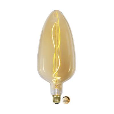 LED spuldze INDUSTRIAL VINTAGE AMBER C125, 3.3W / 2100K / E27
