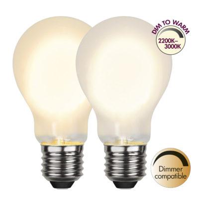 LED spuldze A60 DIM-TO-WARM, 4W / 2200-3000K / E27