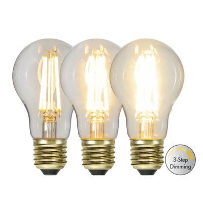 LED spuldze A60 3-STEP CLICK, 6.5 W / 2100K / E27
