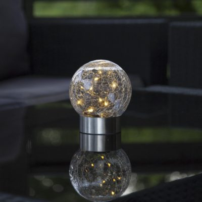Āra lukturis ar saules bateriju GLASS BALL Saules baterijas