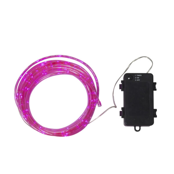 5m spuldzīšu virtene ar baterijām TUBY PINK