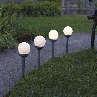 4 dārza lukturis ar saules bateriju GLOBUS 4 PACK