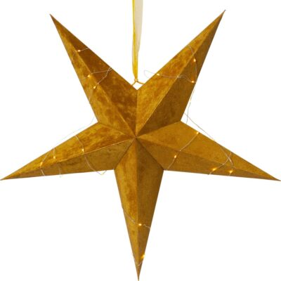 Samta zvaigzne VELVET GOLD 60CM