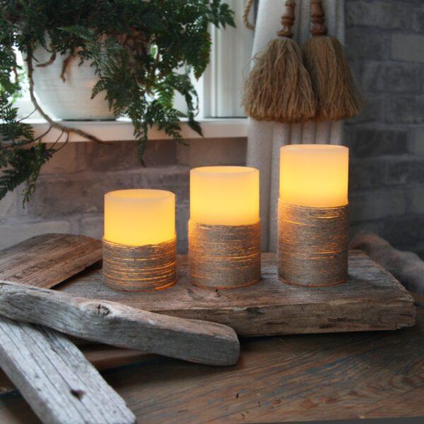 LED svece ROPE (12,5 cm)