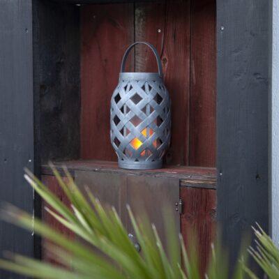 Āra lukturis ar saules bateriju FLAME SOLAR Saules baterijas