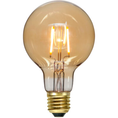 LED spuldzītes vītnēm G80 PLAIN AMBER, 0.75W / 2000K / E27
