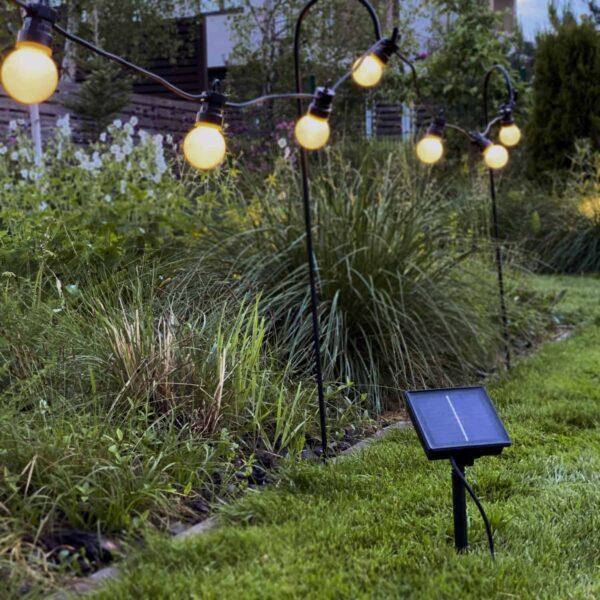 Lampiņu virtene ar saules baterijām G45 PARTY LIGHTS