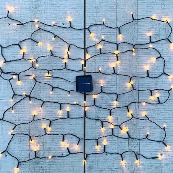 Lampiņu virtene ar saules baterijām GARDEN LIGHT Saules baterijas