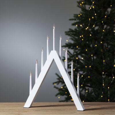 Ziemassvētku dekorācija logam JAZZ WHITE