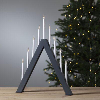 Ziemassvētku dekorācija logam JAZZ GREY