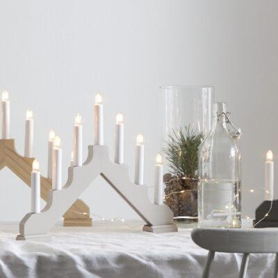 Ziemassvētku dekorācija logam ADAGIO GREY