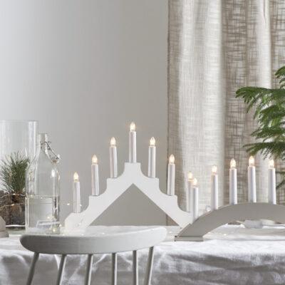 Ziemassvētku dekorācija logam ADAGIO WHITE